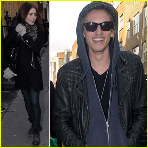 Lily Collins &#038; Jamie Campbell Bower: London Couple!