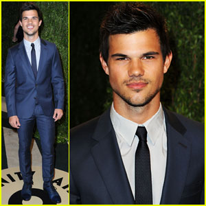 Taylor Lautner: Vanity Fair Oscar Party 2013