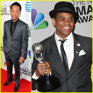 Tristan Wilds: NAACP Image Awards 2013 with Tyler James Williams