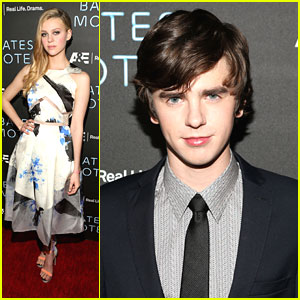 Freddie Highmore: 'Bates Motel' Premiere Party with Nicola Peltz