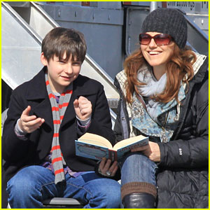 Jared Gilmore: On-Set Tutoring Session!