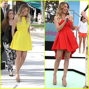 Lauren Conrad: Red &#038; Yellow Dresses for 24-Hour Runway Show