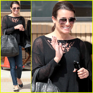 Lea Michele Wears 'Cory' Name Necklace!