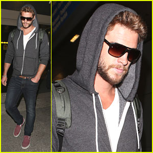 Liam Hemsworth: Bearded LAX Arrival