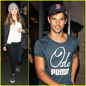 Ashley Benson & Taylor Lautner: Fogo de Chao Friends