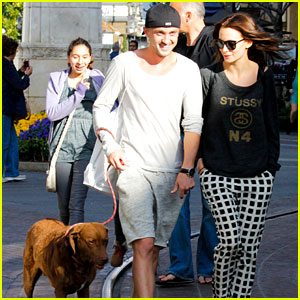 Tom Felton &#038; Jade Olivia: Dog Walking Duo