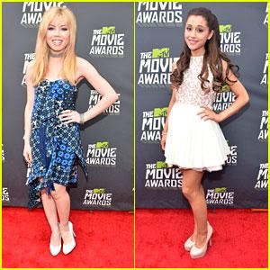 Ariana Grande & Jennette McCurdy -- MTV Movie Awards 2013