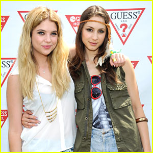 Ashley Benson & Troian Bellisario: Guess Pool Party Pair