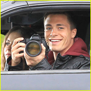 Colton Haynes: Camera in the Car on 'Arrow' Set