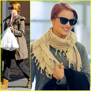 Dianna Agron: LAX Depature Following Pharmacy Stop