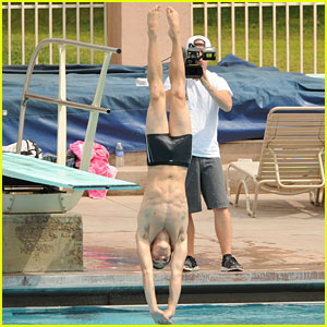 Drake Bell: Diving Practice for 'Splash'
