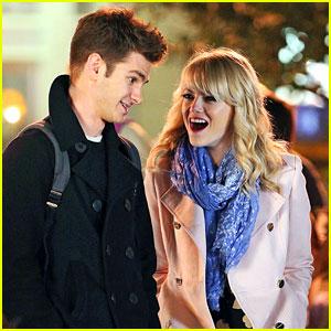 Emma Stone & Andrew Garfield: 'Amazing Spider-Man 2' Night Shoots