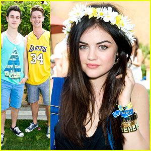 Lucy Hale & David Henrie: Just Jared Music Festival Brunch