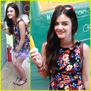 Lucy Hale: Fruttare Fruit Bar Stop at Coachella