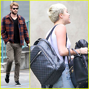Miley Cyrus Has a Photoshoot, Liam Hemsworth Grabs Lunch