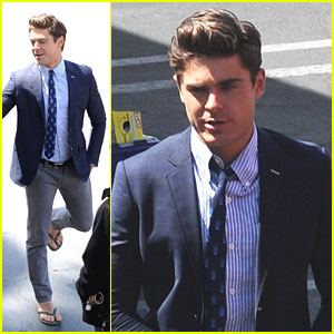 Zac Efron: Flip Flops on 'Townies' Set