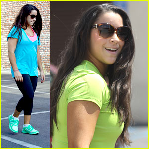Aly Raisman: Neon Bright for 'DWTS' Practice