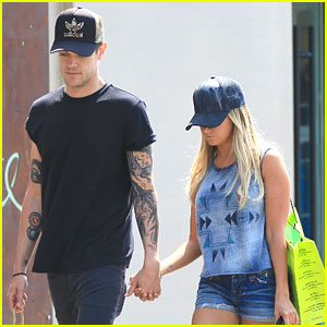 Ashley Tisdale & Christopher French: Back From Camping!