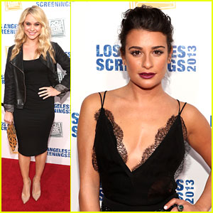 Lea Michele & Becca Tobin: LA Screenings Lot Party Pair