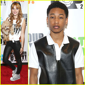 Bella Thorne &#038; Jacob Latimore: Move Your Body Flash Workout Event!