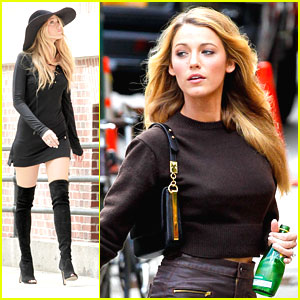Blake Lively: Thigh High Boots Photo Shoot