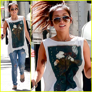 Brenda Song Makes A Run For It