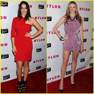 Chloe Bridges &#038; Danielle Panabaker: Nylon Young Hollywood Party 2013