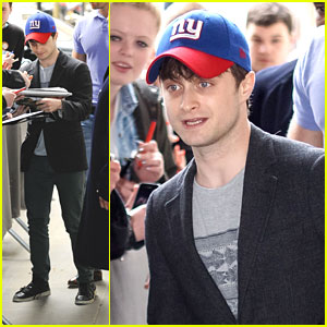 Daniel Radcliffe: NY Giants Cap Outside BBC Radio