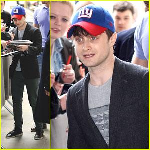 Daniel Radcliffe: NY Giants Cap Outside BBC Radio