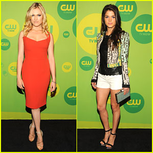 Eliza Taylor & Marie Avgeropoulos: 'The 100' at CW Upfronts 2013