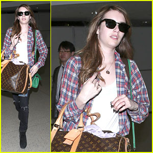 Emma Roberts: LV Luggage at LAX