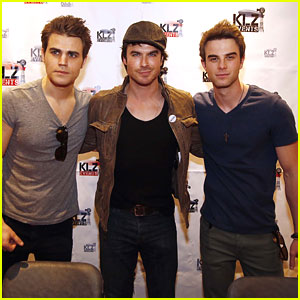 Ian Somerhalder &#038; Paul Wesley: Bloodynightcon3 Press Conference