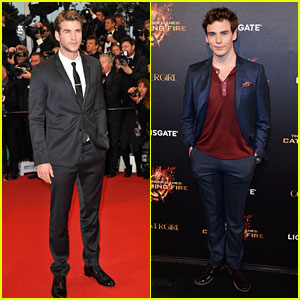Liam Hemsworth & Sam Claflin: 'Catching Fire' in Cannes!