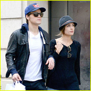 Paul Wesley & Torrey Devitto: 'The Vampire Diaries' in Paris