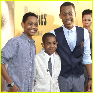 Tyler James Williams: 'Peeples' Premiere with Tyrel & Tylen