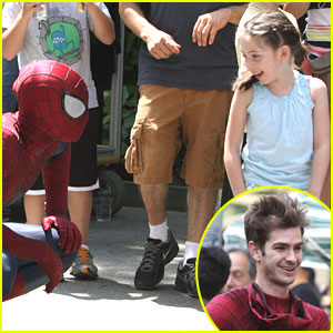 Andrew Garfield: Friendly With Young Fans on 'Spider-Man' Set