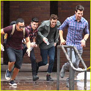 Big Time Rush: Run in The Rain in NYC