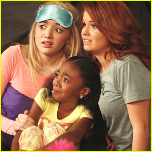 Debby Ryan & Peyton List: Central Park Camping Trip on 'Jessie'