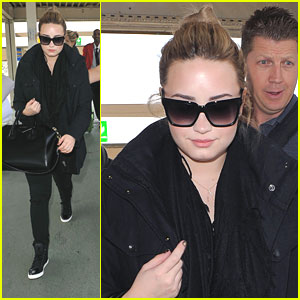 Demi Lovato Departs Heathrow Airport in London