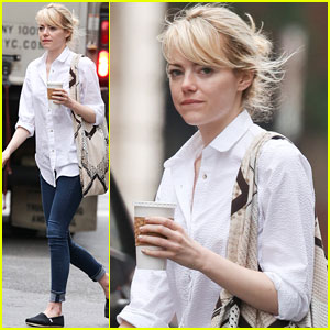 Emma Stone: SoHo Coffee Stop!