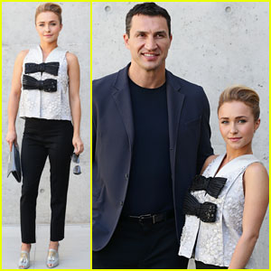Hayden Panettiere: Armani Fashion Show with Wladimir Klitschko