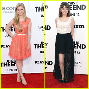 Joey King and Sierra McCormick: 'This Is The End' Premiere Pair