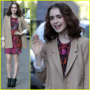 Lily Collins: ITV Studios Arrival