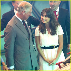 Jenna-Louise Coleman: Prince Charles Visits 'Doctor Who' Set