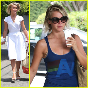 Julianne Hough: Salon Stop Before Fergie's Baby Shower