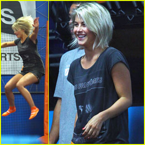 Julianne Hough: Trampoline Park with Cara Santana!