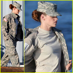 Kristen Stewart: Camo for 'Camp X-Ray'