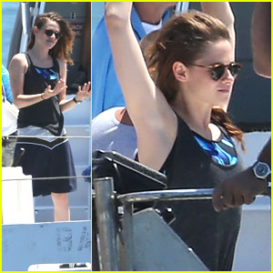 Kristen Stewart Starts Filming 'Camp X-Ray' on a Boat