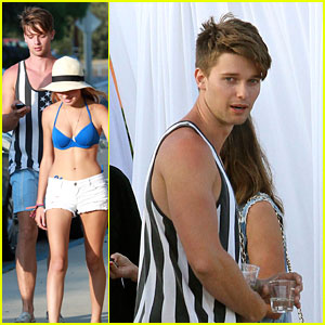 Patrick Schwarzenegger Attends Paris Hilton's 4th of July Party!
