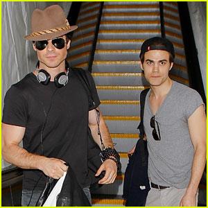 Paul Wesley & Ian Somerhalder: LAX Airport Arrival